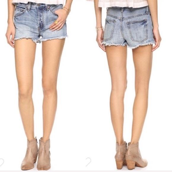 Free People Pants - Free People High Waisted Cutoff Denim Shorts
